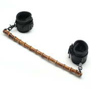 Liebe Seele Bamboo Spreader Bar w/Padded Leather Ankle Cuffs