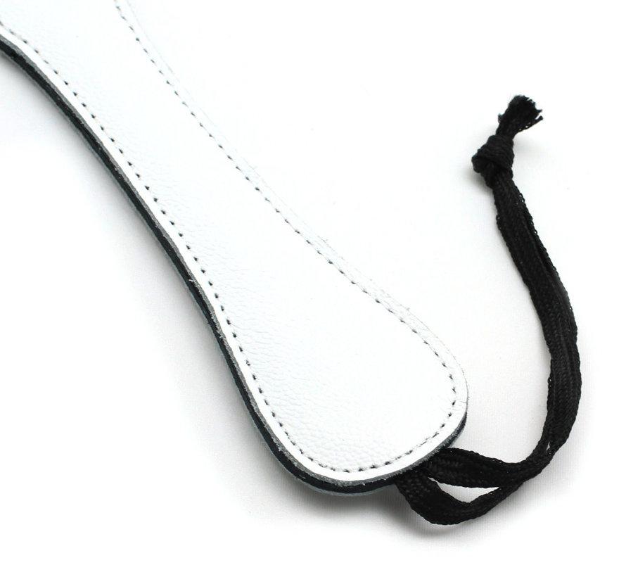 White Leather Spanking Paddle