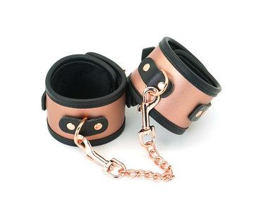 Liebe Seele Rose Gold Cuffs w/Faux Fur Lining