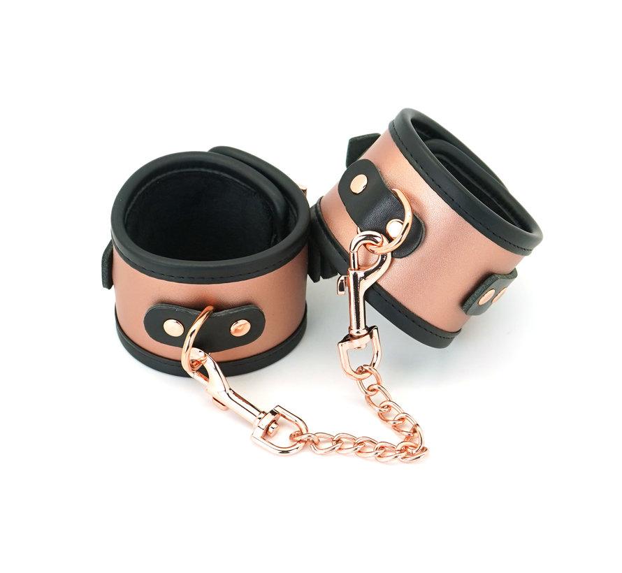Rose Gold Cuffs w/Faux Fur Lining