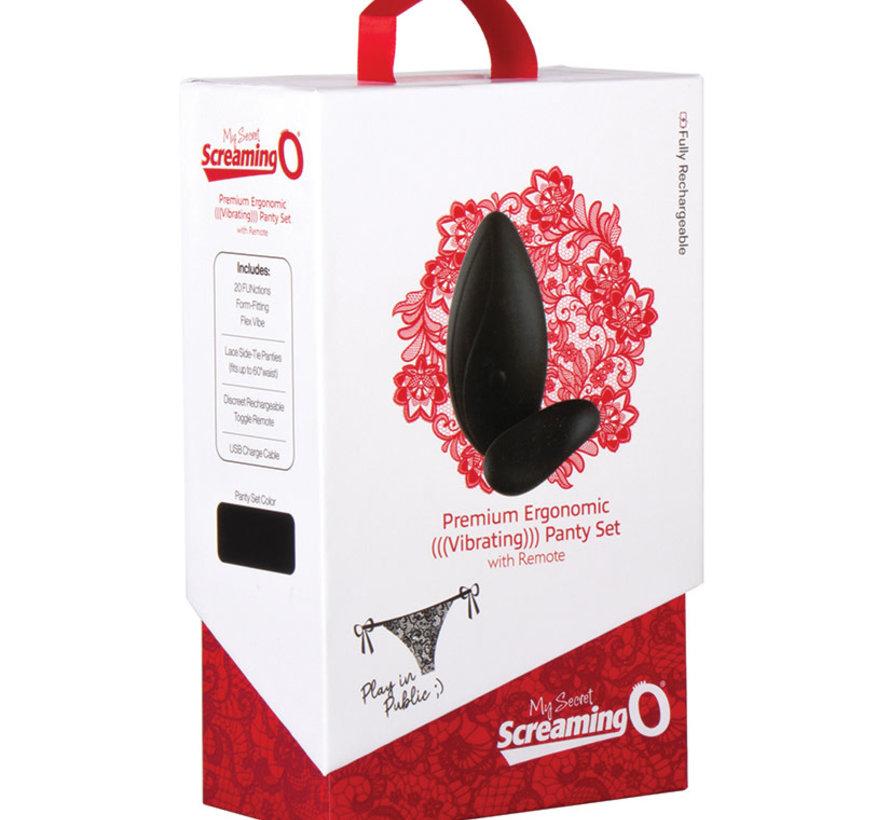 Screaming O  Premium Ergonomic Vibrating Panty Set