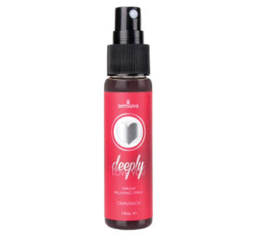 Deeply Love You Cinnamon Throat Relaxing Spray 1 oz.