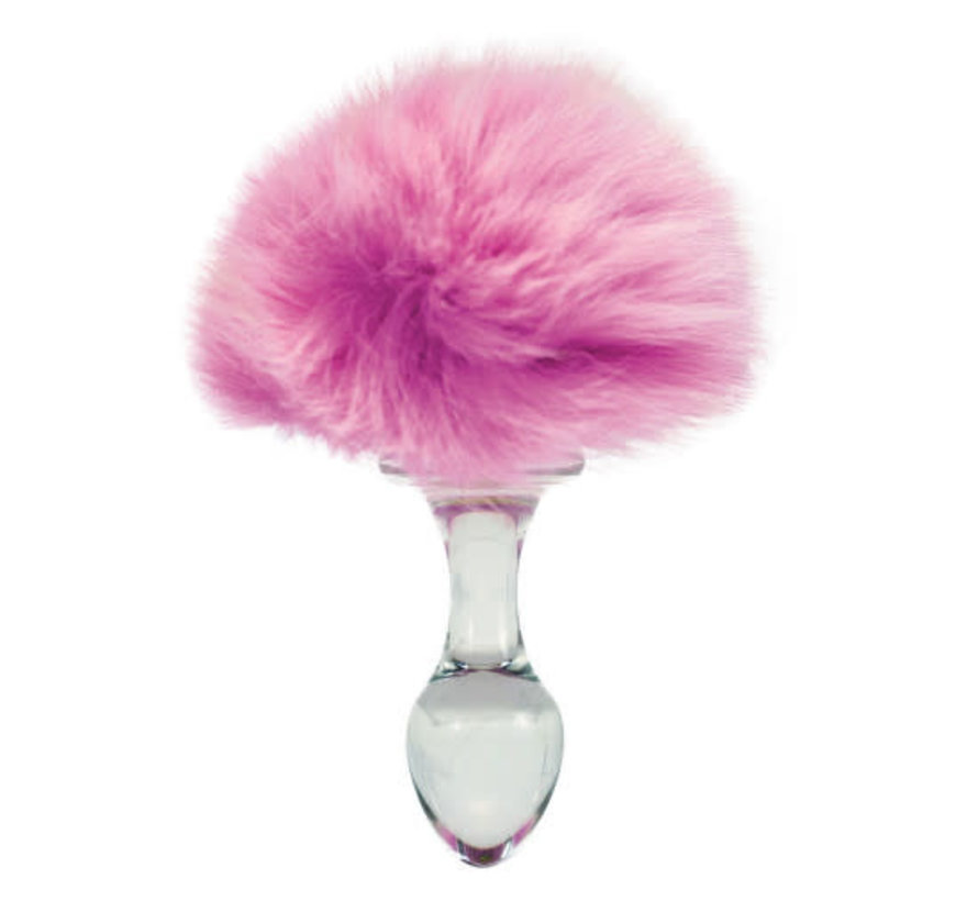 Crystal Delights Magnetic Bunny Tail - Pink