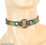 Funk Plus Holographic Rainbow O-ring Collar