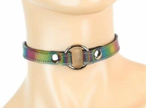 Funk Plus Holographic Rainbow O-ring Collar