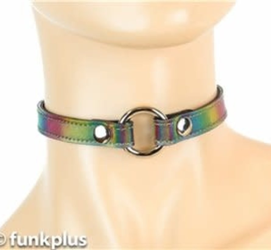Holographic Rainbow O-ring Collar