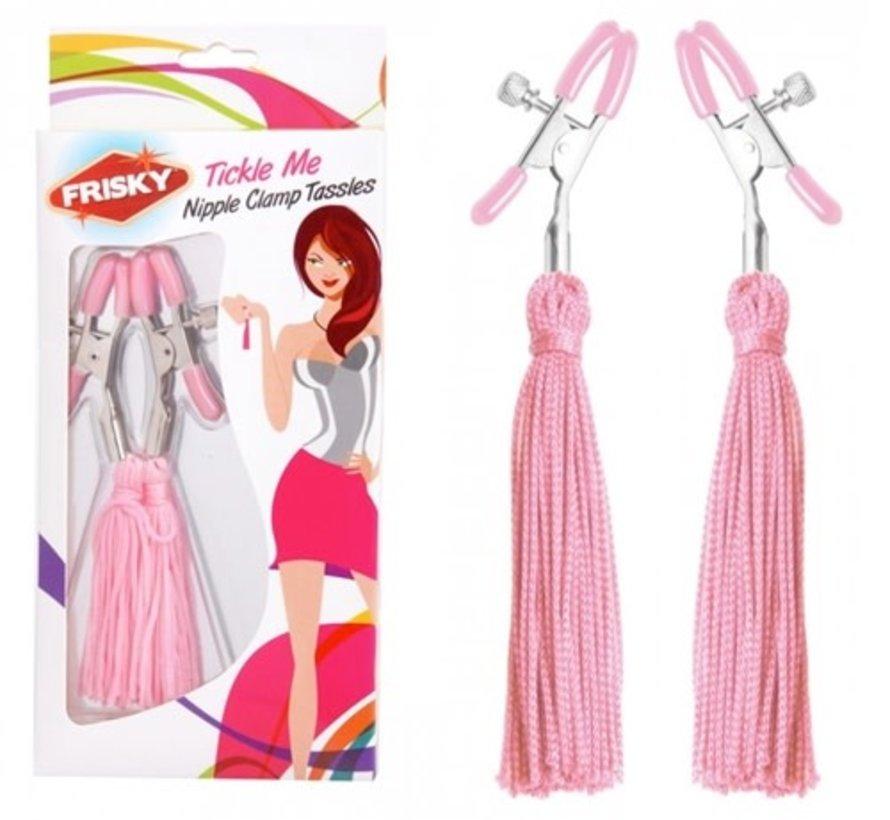 Tickle Me Pink Nipple Clamp Tassels