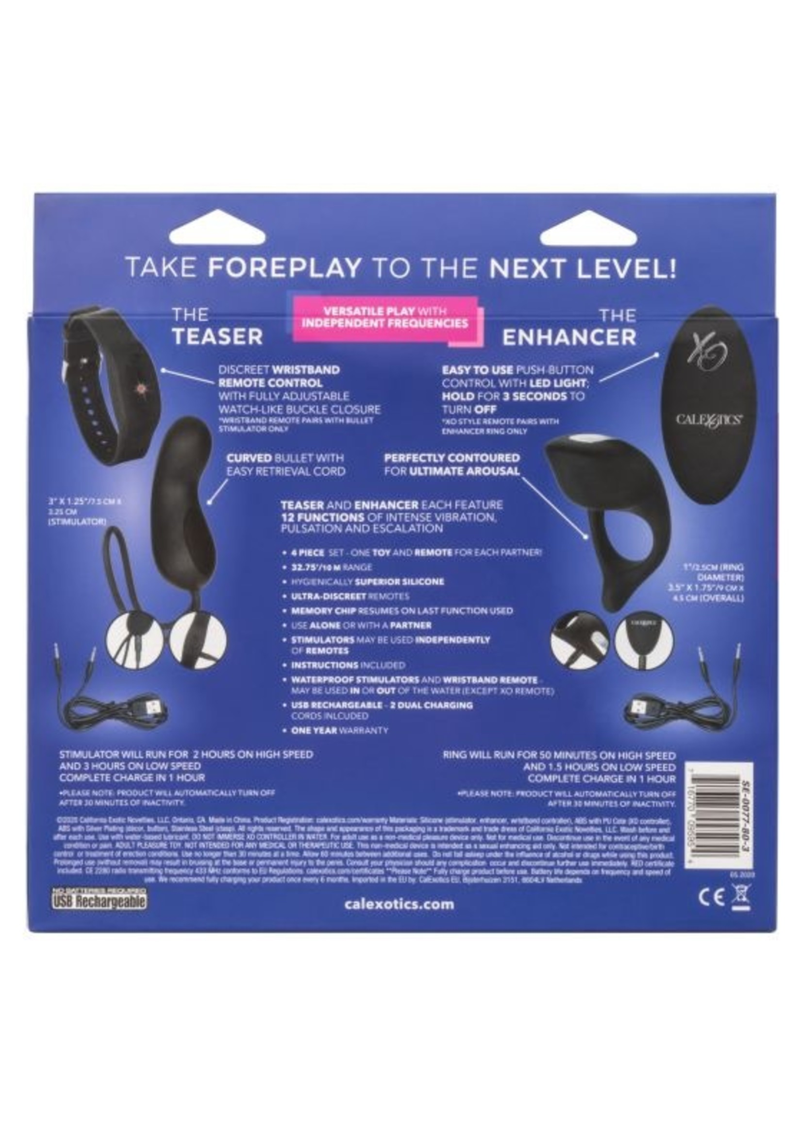 Cal Exotic Novelties Silicone Remote Foreplay Set