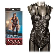 Scandal Strappy Lace Body Suit Plus Size