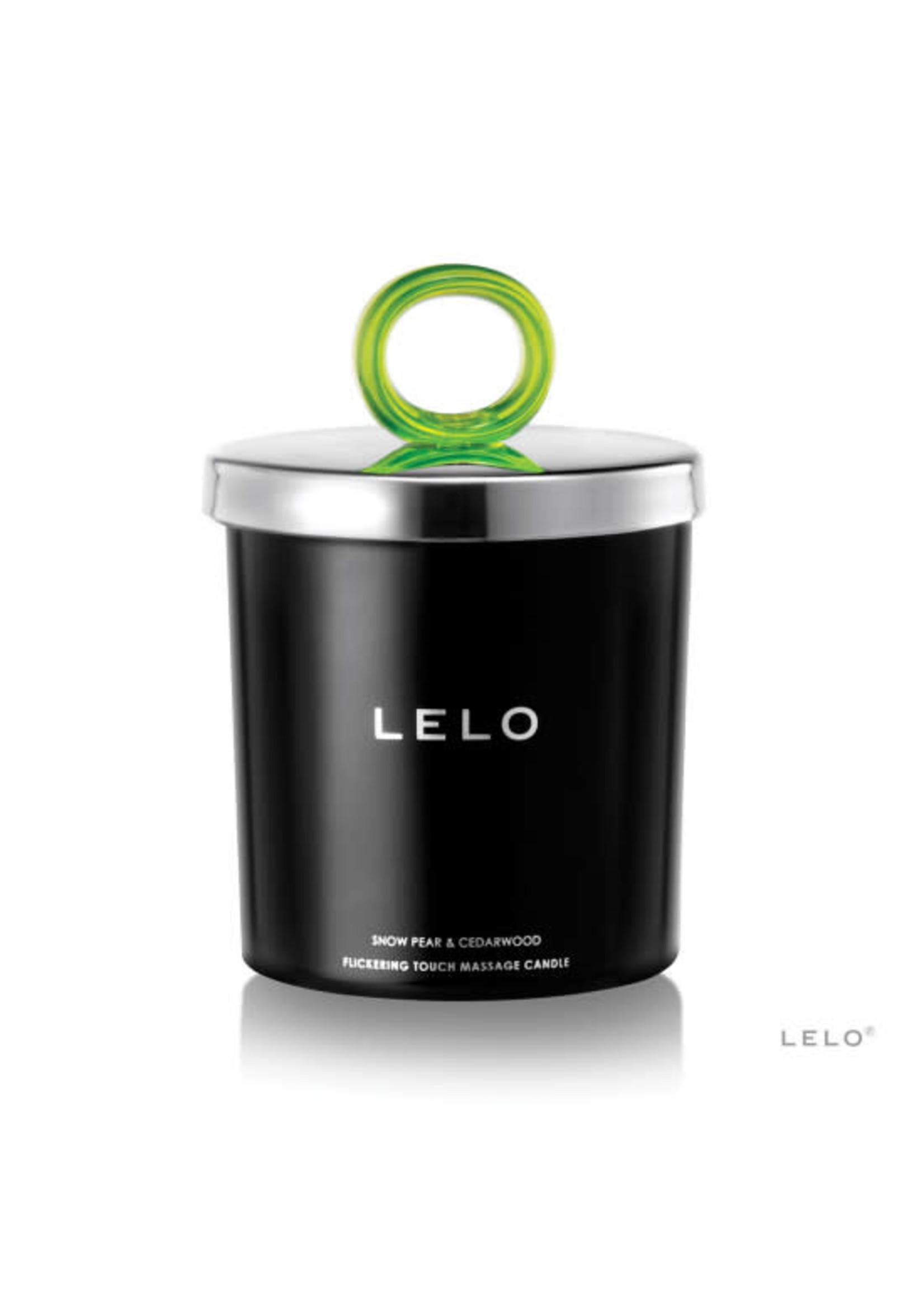Lelo Snow Pear/Cedarwood LELO Flickering Touch Massage Candle