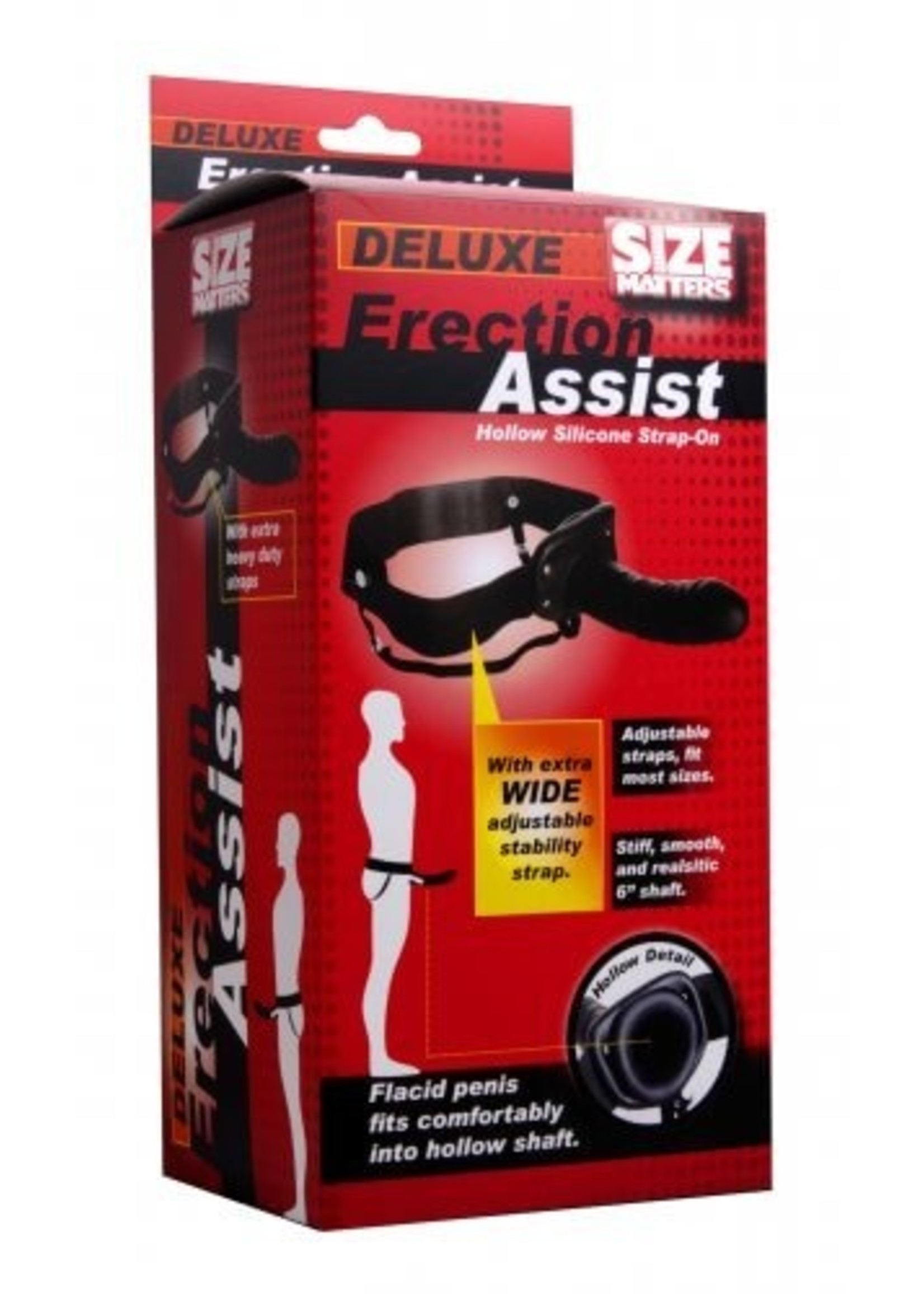 Size Matters Size Matters Erection Assist Hollow Silicone Strap On