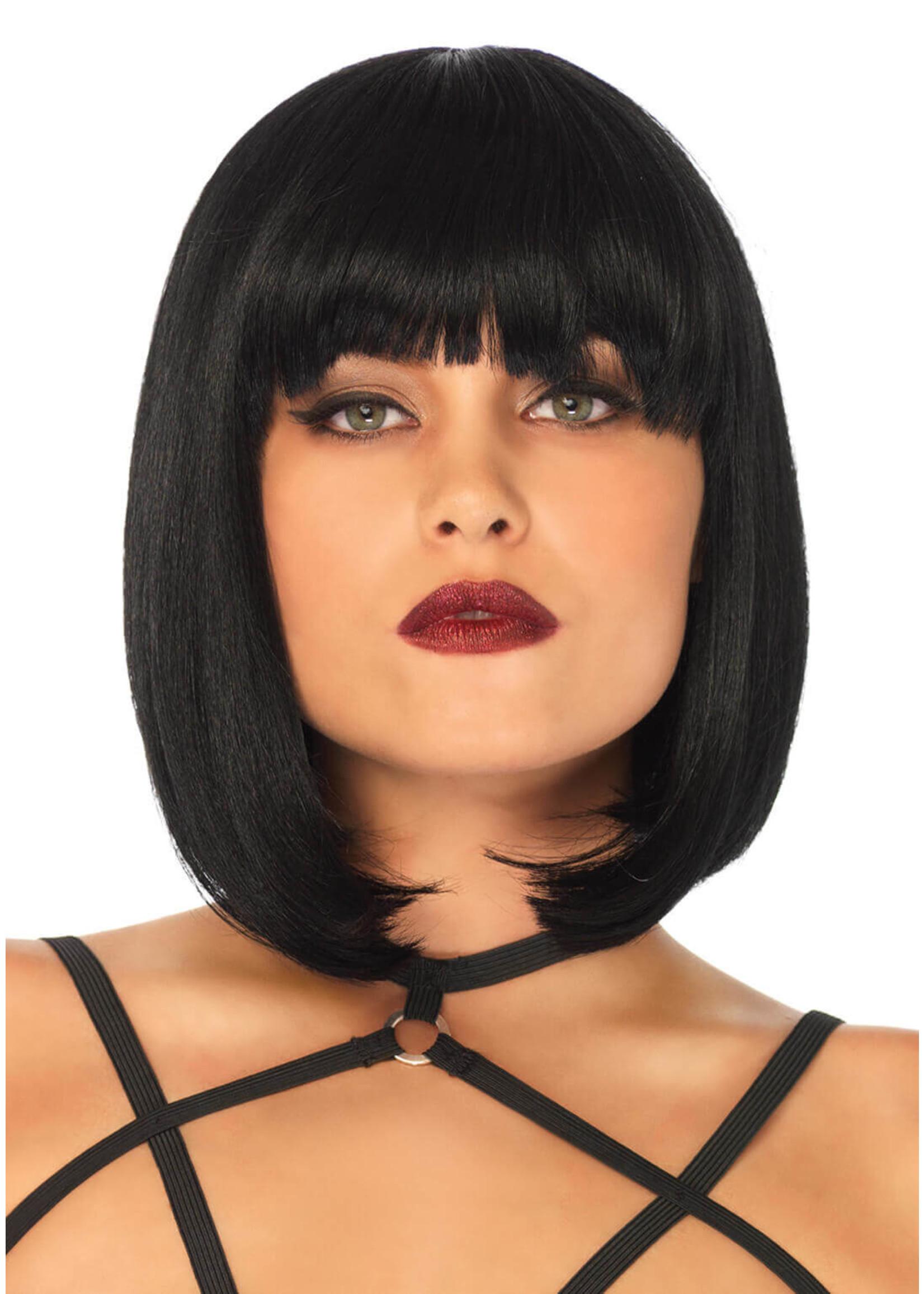 Leg Avenue Short natural bob wig- Black