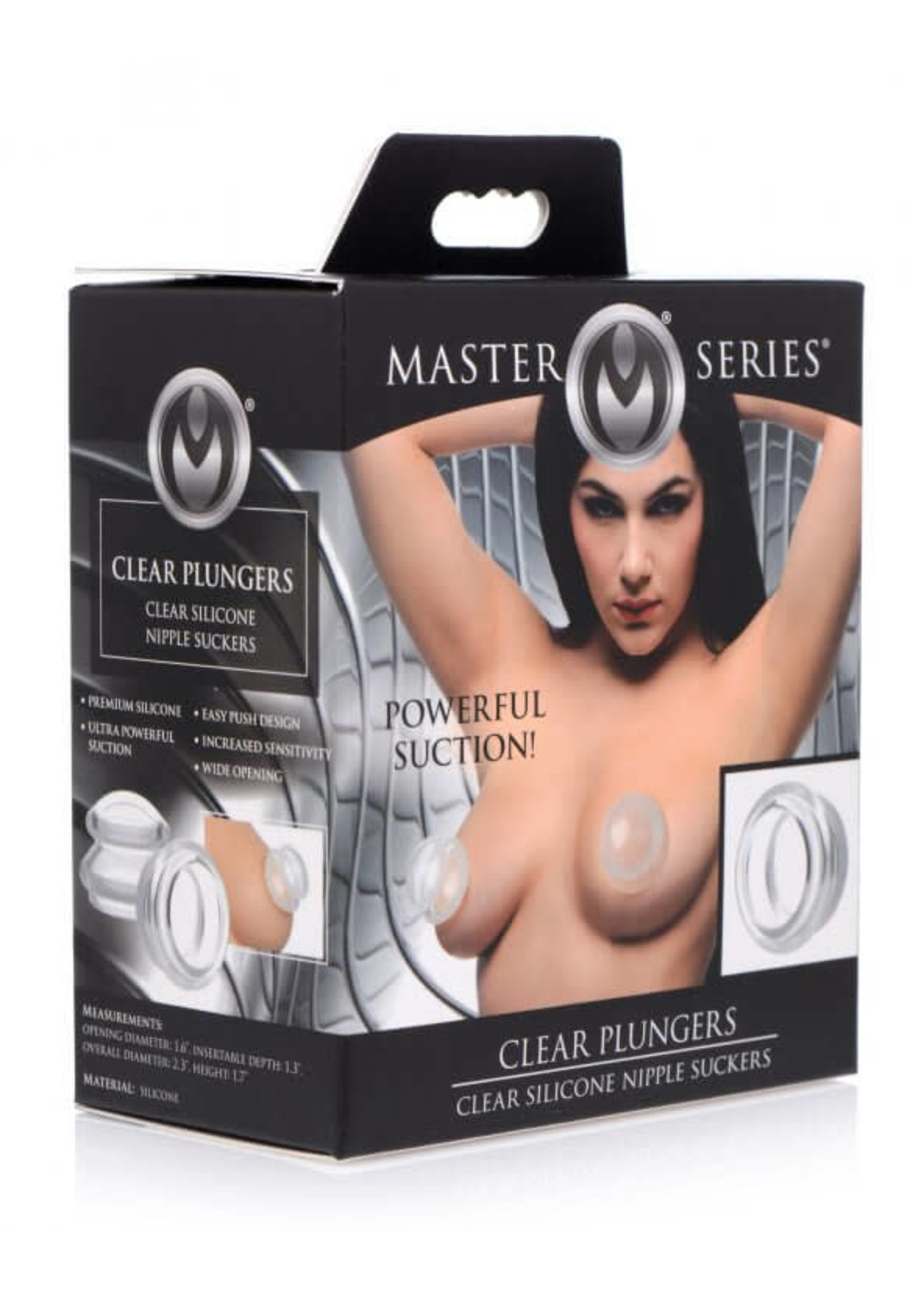Clear Plungers Silicone Nipple Suckers - Large
