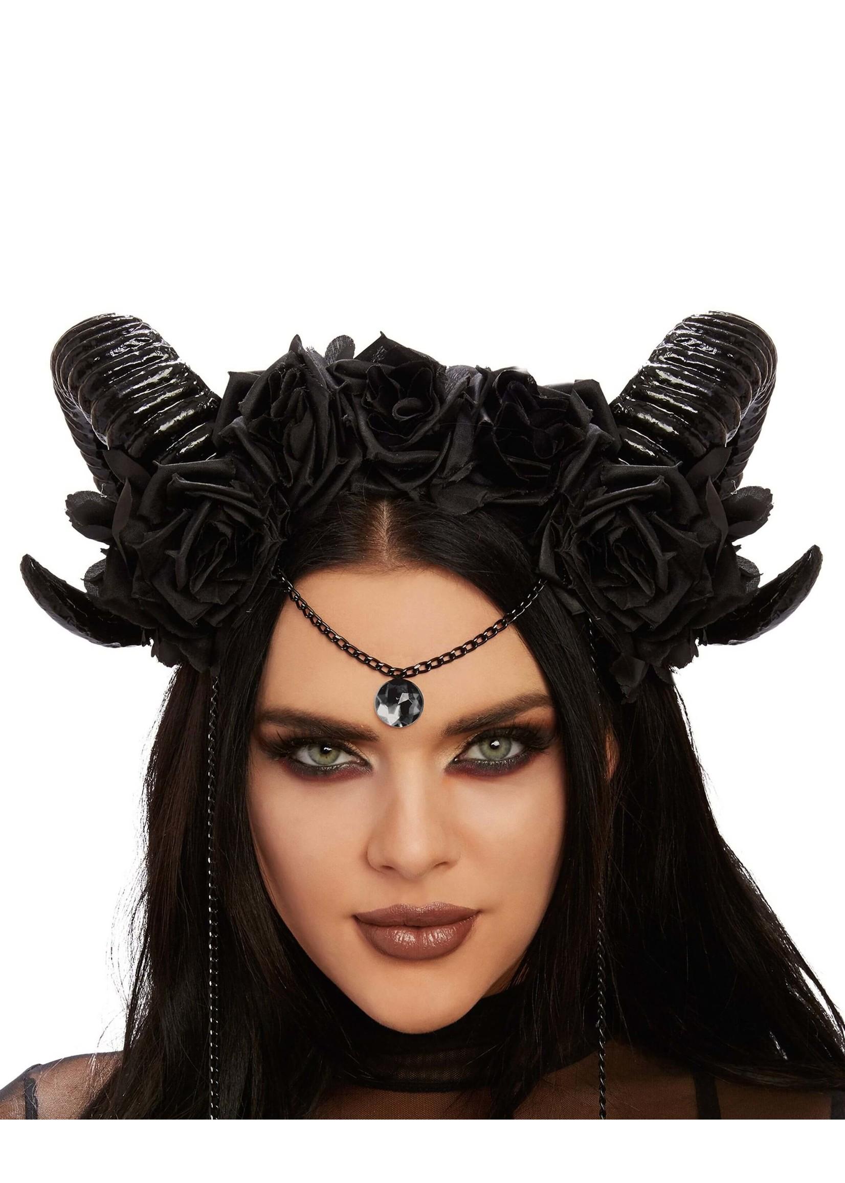Dreamgirl Mystical Ram's Horn Headpiece
