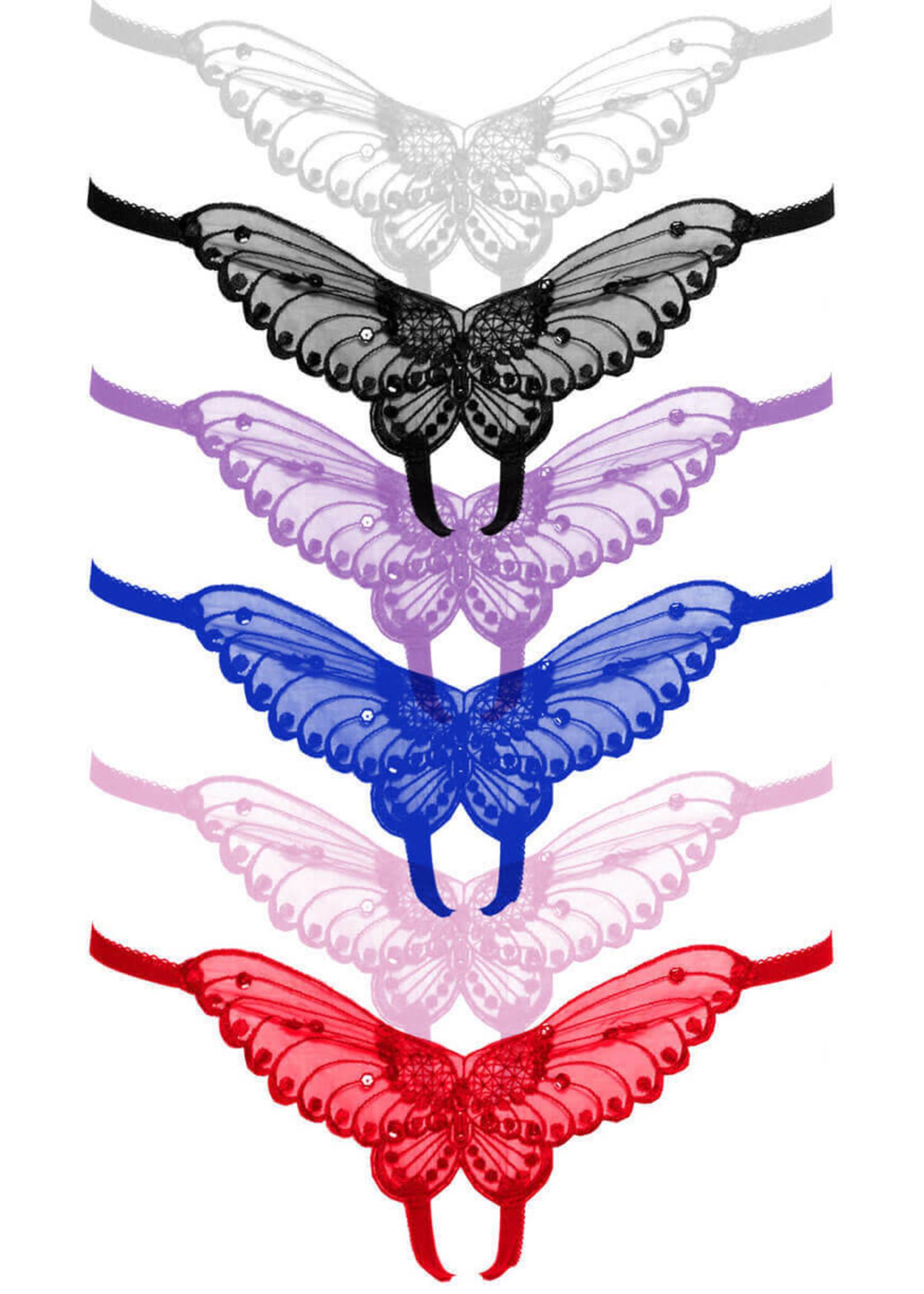 Leg Avenue Butterfly Crotchless Panty