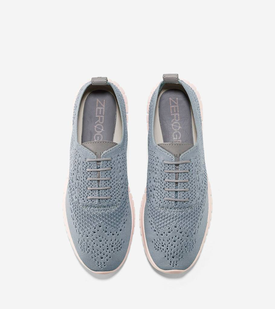 Cole Haan Cole Haan Zerogrand Zerogrand Wingtip Oxford With Stitchlite Ironstone Knit-Tropical Peach Casual Shoe