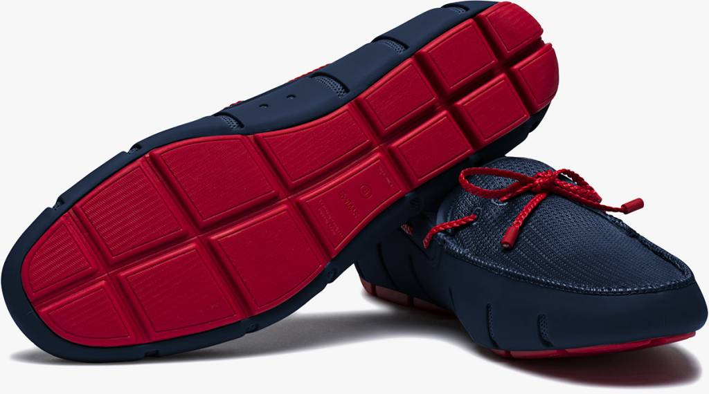 Swims Swims Braided Navy/Red Loafer