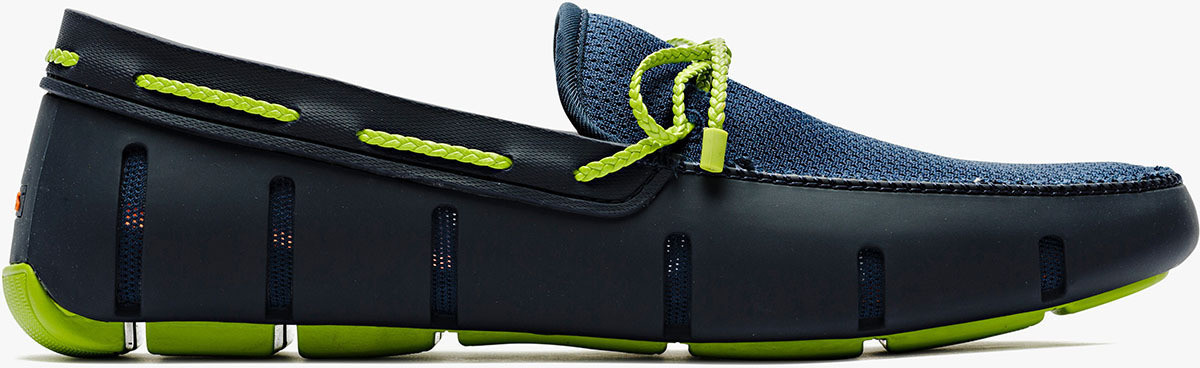 Swims Swims Braided Lace Navy/Green Loafer