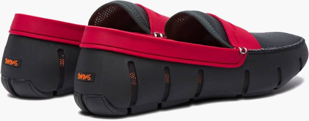 Swims Swims Penny Black/Anthracite/Red Loafer