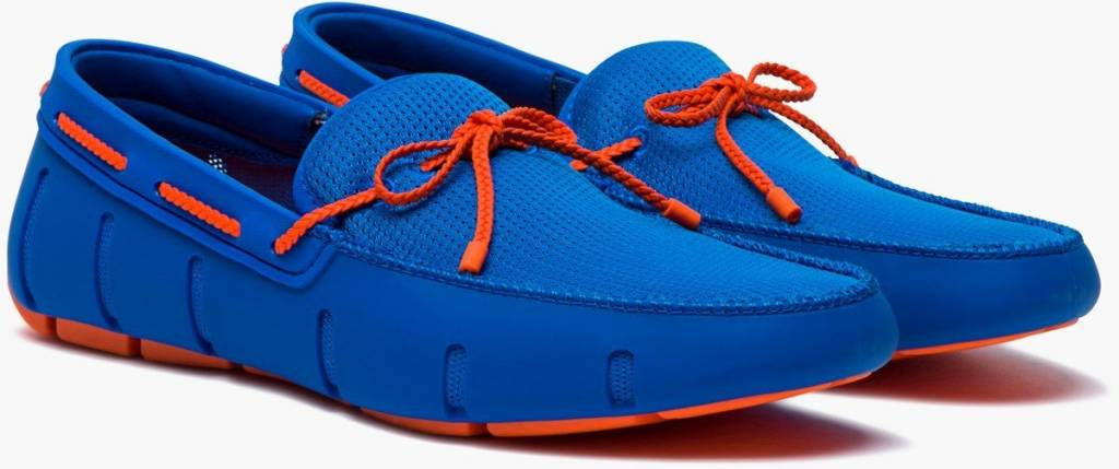 Swims Swims Braided Blitz Blue/Orange Loafer