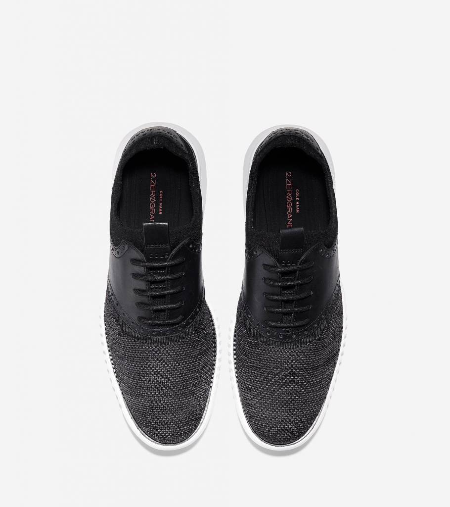 Cole Haan Cole Haan 2. ZeroGrand Packable Saddle Knit Oxford Black/Goji Berry/Optic White Casual Shoe
