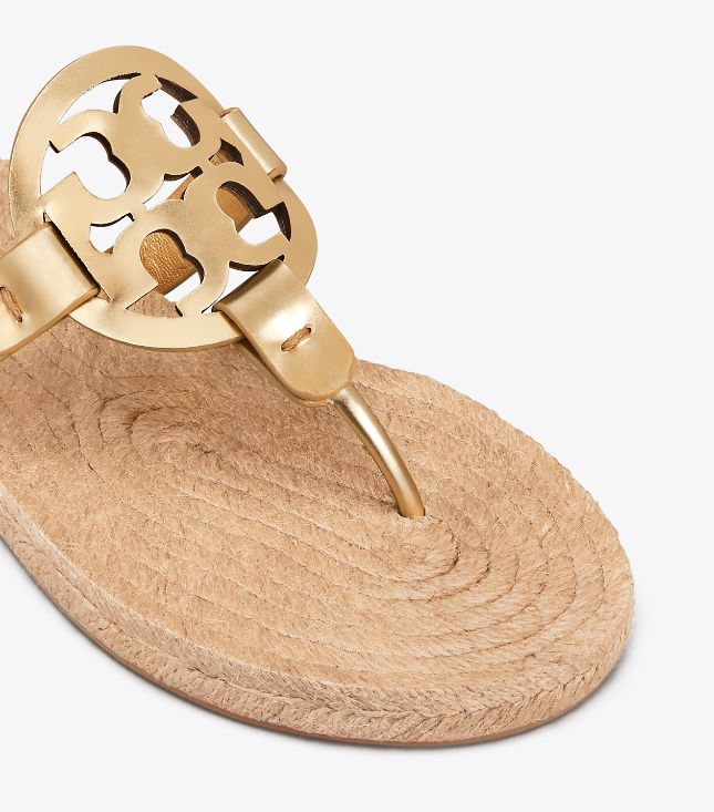 fd100bc41 Tory Burch Miller Espadrille Gold Sandal - The Shoe Boutique