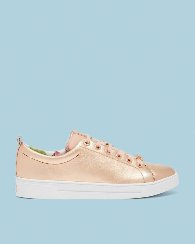 a75367528 Ted Baker Kellei Rose Gold Casual Shoe - The Shoe Boutique