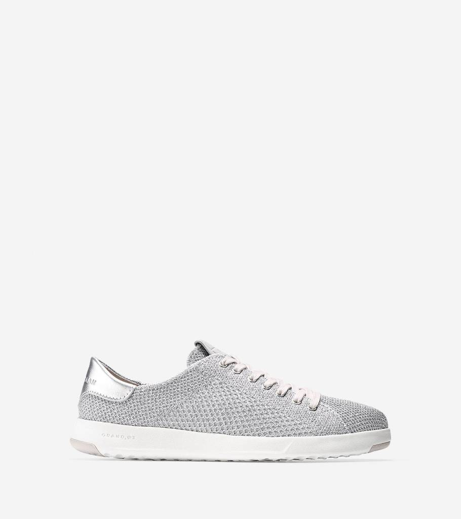 Cole Haan Cole Haan Grandpro Tennis With Stitchlite Metallic Silver Knit