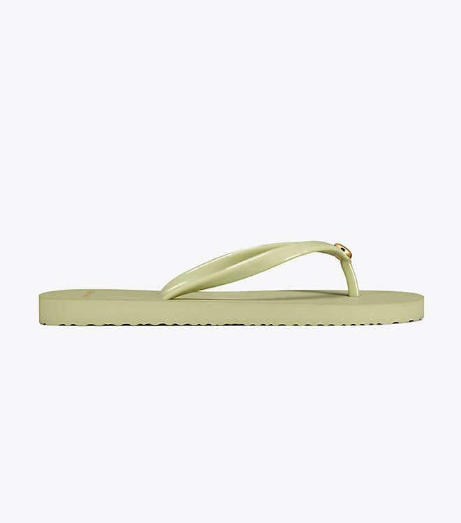 ccc727236c5f Tory Burch Thin Flip Flop Garden Sage Sandal - The Shoe Boutique