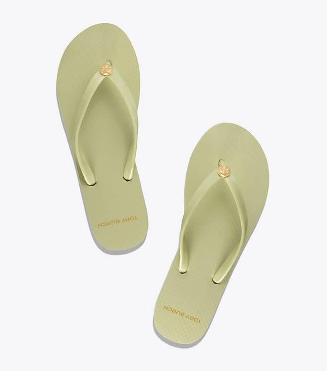 26613b6a6750 Tory Burch Thin Flip Flop Garden Sage Sandal - The Shoe Boutique