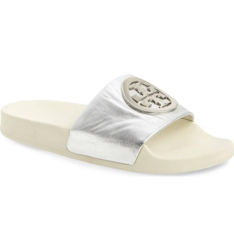 2dff1c594951 Tory Burch Lina Slide Metallic Mestico Sandal - The Shoe Boutique