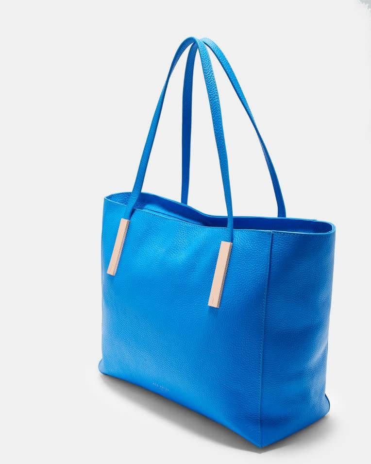 fb6e8076b ... Ted Baker Ted Baker Haanaa Harmony Soft Grain Bight Blue Large Tote ...