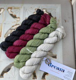 Dream in Color Compass Cowl Kit  #2 - Black Pearl  + Lay A Rose + Sprout + Crying Dove