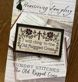 Sunday Stitches:  The Old Rugged Cross (Heartstring)