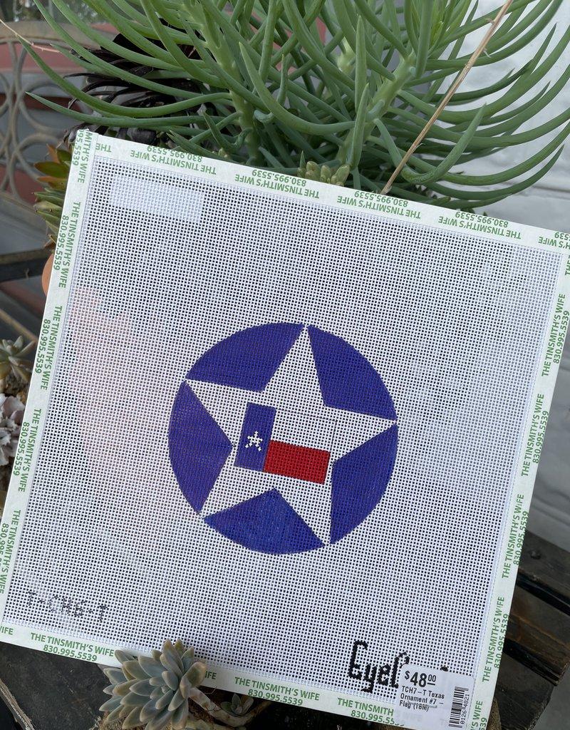 TCH7-T Texas Ornament #7 - Flag  (18M)