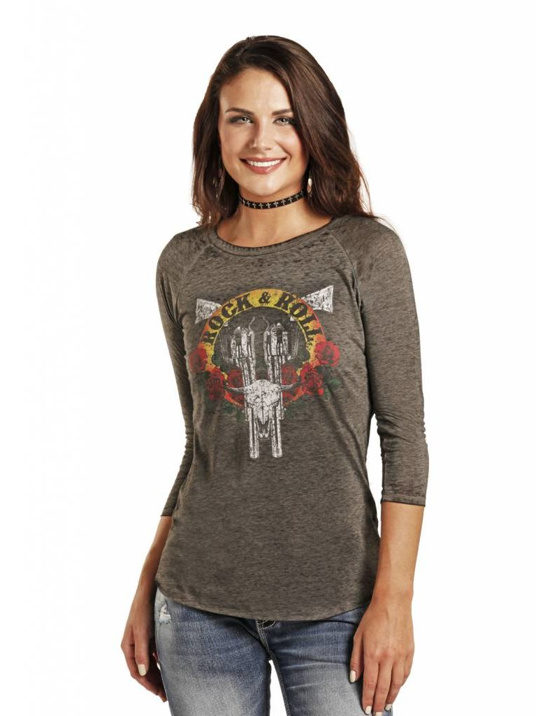 Rock and Roll Cowgirl 3/4 Sleeve Tee Rock & Roll
