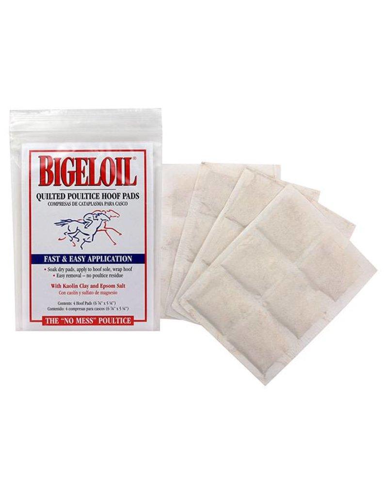 Bigeloil Poultice Hoof Pad 4pk 6 7/8 x 5 1/4
