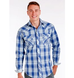 Panhandle LS Button Up Plaid - Blue