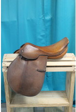 "Crosby Miller's 17 1/2"" Crosby Hunterdon English Flat Saddle"