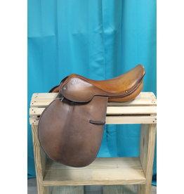 "Crosby Miller's 17 1/2"" Crosby Hunterdon English Flat Saddle"