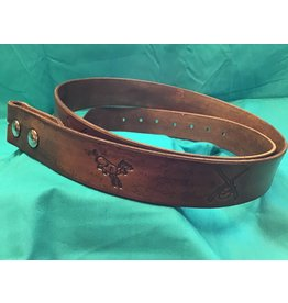 Custom Leather Belt Stamped w/out Keeper