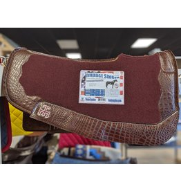 TE Impact Shield Saddle Pad burgundy open wither