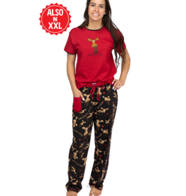Lazy one Women's PJ Set Short Sleeve