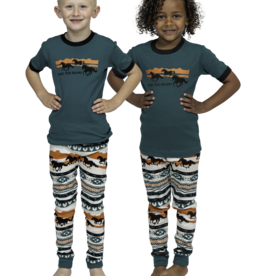 Lazy one Kids PJ Set Short Sleeve