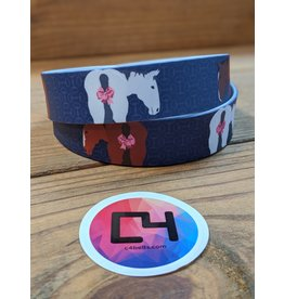 C4 Horse Ribbons - Breast Cancer Belt w/Buckle