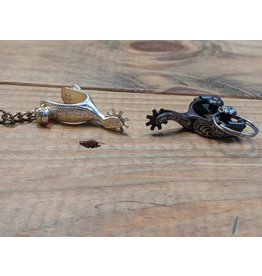 Antiqued Engraved Spur Keychain