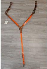 Alamo Saddlery Breast Collar Orange Reflective