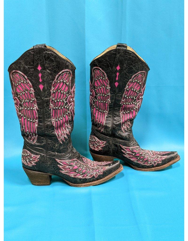 Corral Corral Ladies Boot Blk/Pnk 8.5