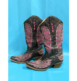 Corral Corral Ladies Boot Blk/Pnk 8.5