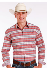 Panhandle LS Button Up Plaid - Rust